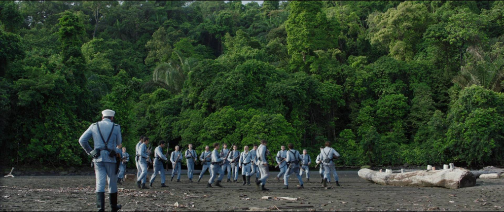 Training soldiers during siege of Baler film